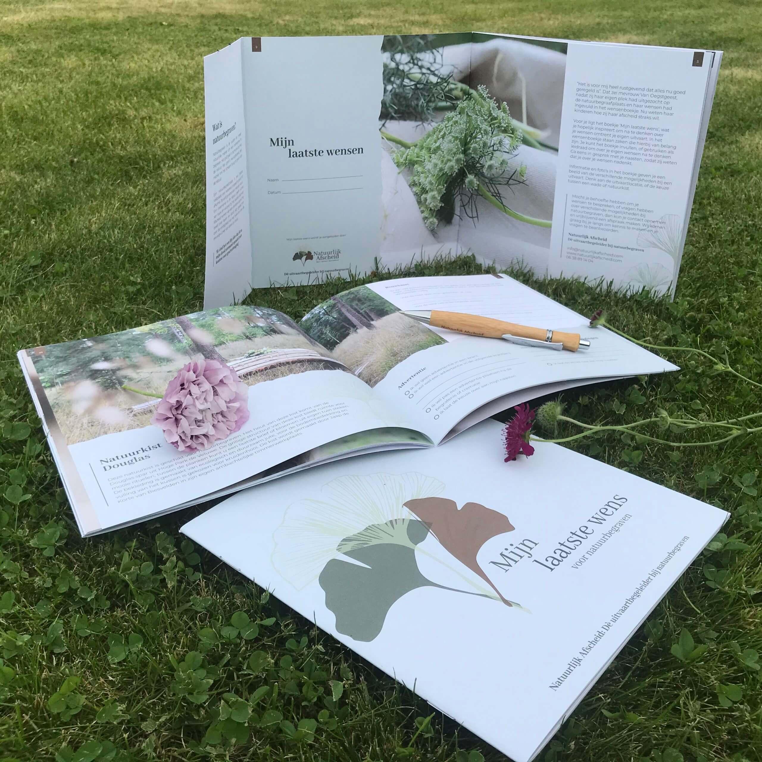 Natuurlijk Afscheid Uitvaartbegeleider natuurbegraven laatste wensenboekje