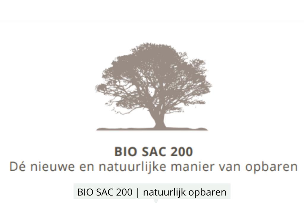 Natuurlijk Afscheid uitvaartbegeleider natuurbegraven BioSac200